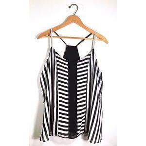NY&C Striped Swoop Blouse • Medium